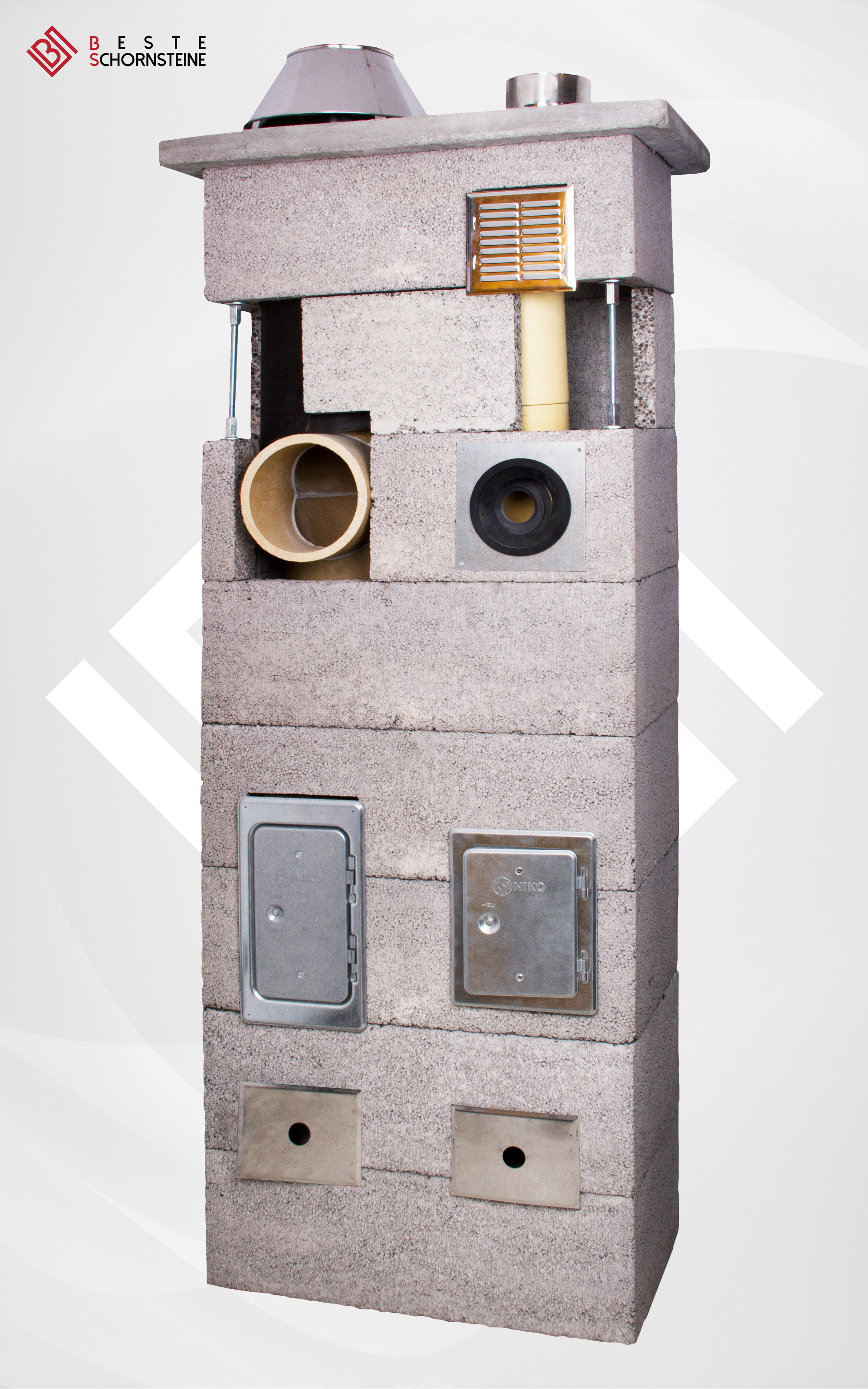 zweiz gig keramik schornstein 140 mm 160 mm beste. Black Bedroom Furniture Sets. Home Design Ideas